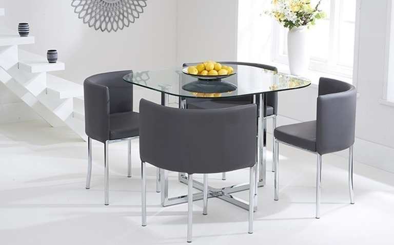 Featured Photo of Glass Dining Tables Sets