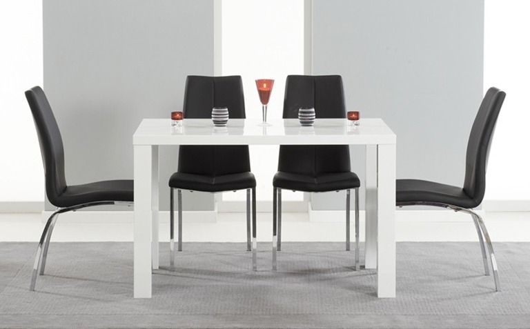 The In Black High Gloss Dining Tables And Chairs (View 17 of 20)