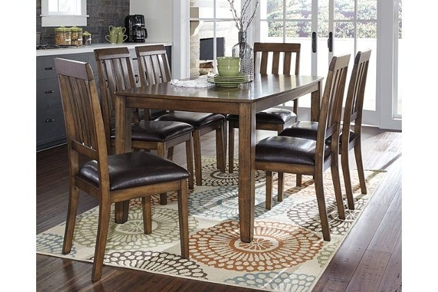 The Puluxy 7 Piece Dining Set Makes Having A Meal All The More Inside Well Liked Chandler 7 Piece Extension Dining Sets With Fabric Side Chairs (View 15 of 20)