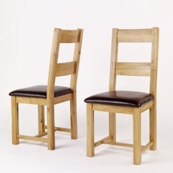 The Regarding Favorite Oak Leather Dining Chairs (View 19 of 20)