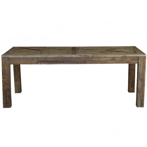 Theo And Joe Provence Reclaimed Oak Dining Table  (View 19 of 20)