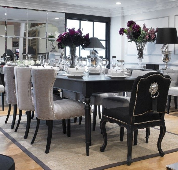 This Set Comes With An 8 Seater Table And 6 Of The Light Coloured With Regard To Fashionable 8 Seater Black Dining Tables (View 16 of 20)