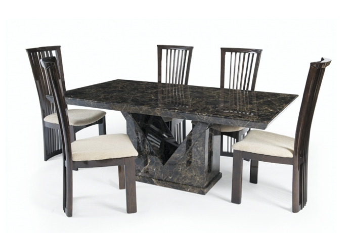 Thomas Brown Furnishings Intended For Marble Effect Dining Tables And Chairs (View 9 of 20)