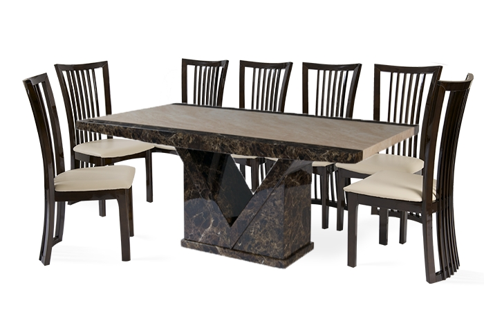 Thomas Brown Furnishings Throughout Latest 8 Chairs Dining Sets (View 19 of 20)