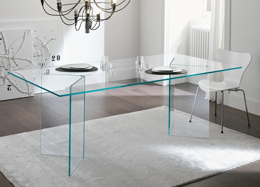Tonelli Bacco Glass Dining Table – Modern Glass Dining Tables Throughout Newest Glass Dining Tables (View 17 of 20)
