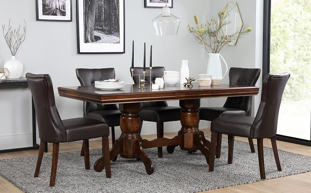 Top 21 Fresh Black Brown Dining Table Set – Welovedandelion With Most Current Dining Tables Dark Wood (View 20 of 20)