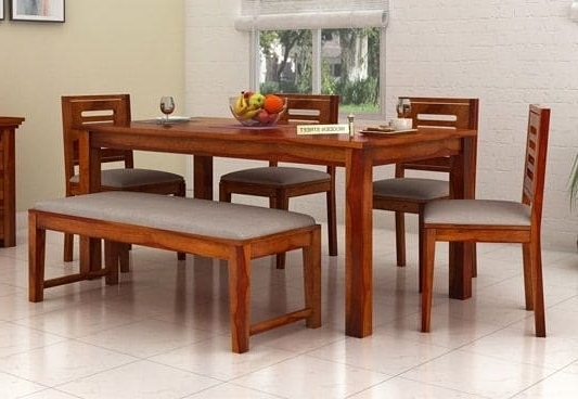 Top 6 Seater Dining Table Online Six Seater Dining Table Set India With Well Known Six Seater Dining Tables (View 16 of 20)