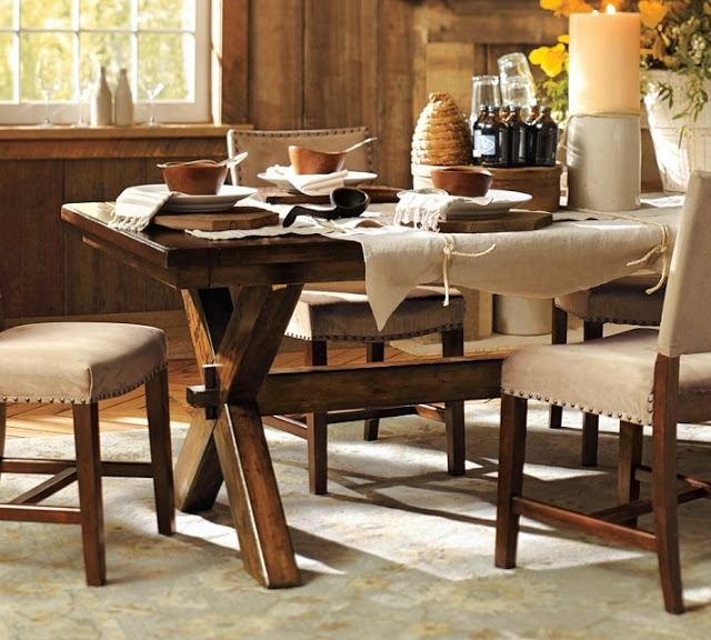 Toscana Dining Tables Intended For Famous Pottery Barn Toscana Dining Table – Copycatchic (View 12 of 20)