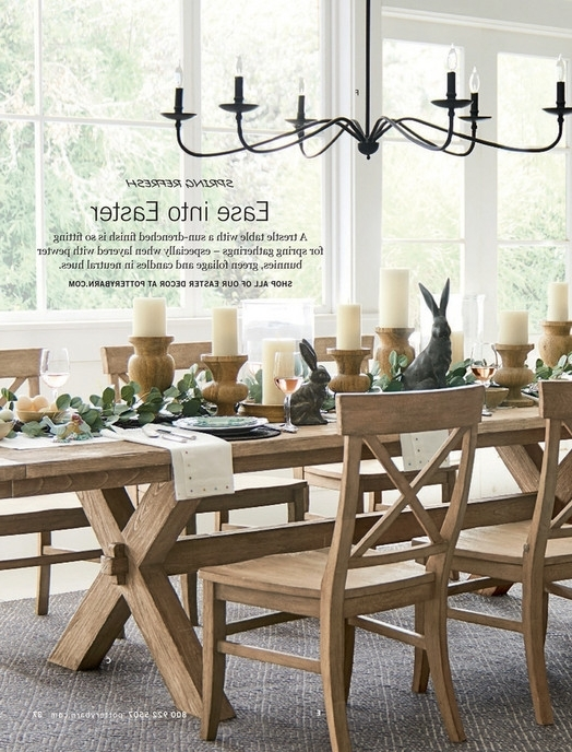 Toscana Dining Tables Regarding Fashionable Pottery Barn – Spring 2017 D2 – Toscana Rectangular Dining Table,  (View 14 of 20)