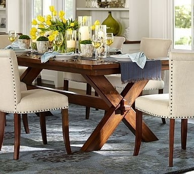 Toscana Extending Dining Table – Dark Brown Or Chestnut Color Throughout Trendy Toscana Dining Tables (View 18 of 20)