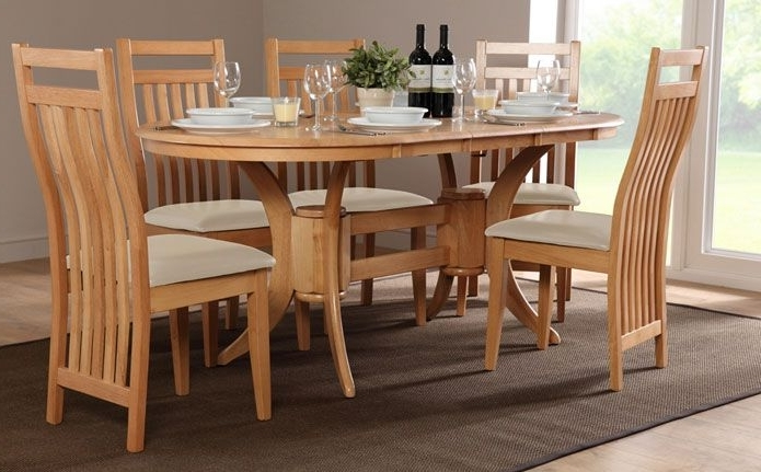 Townhouse & Bali Oval Extending Dining Set (Ivory) (View 18 of 20)