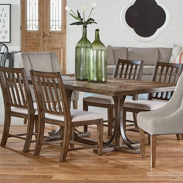 Traditional Iron Trestle Table In Shop Floor (View 4 of 20)