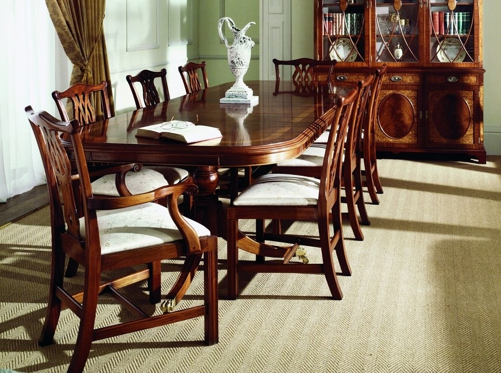 Traditional Mahogany Extending Dining Table (View 18 of 20)