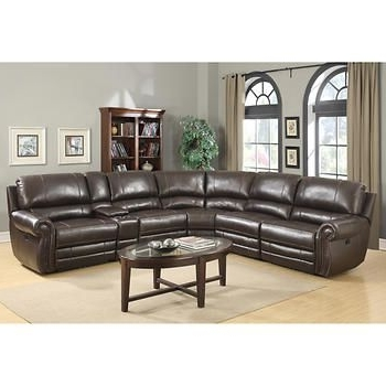 Travis Cognac Leather 6 Piece Power Reclining Sectionals With Power Headrest & Usb Inside Newest Baxter 6 Piece Top Grain Leather Reclining Modular Sectional (View 6 of 15)