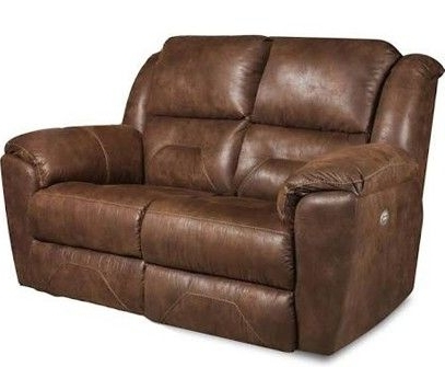 Travis Cognac Leather 6 Piece Power Reclining Sectionals With Power Headrest & Usb Intended For 2018 Lincoln Aged Leather Chesterfield – 2 Seater (View 14 of 15)