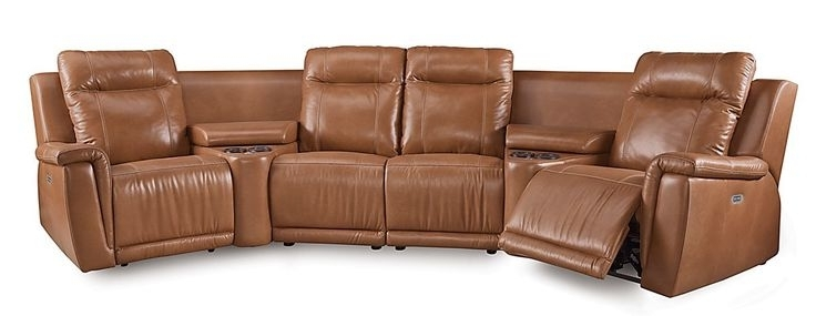 Travis Dk Grey Leather 6 Piece Power Reclining Sectionals With Power Headrest & Usb For Best And Newest The 10 Best Sectionals Images On Pinterest (View 13 of 15)
