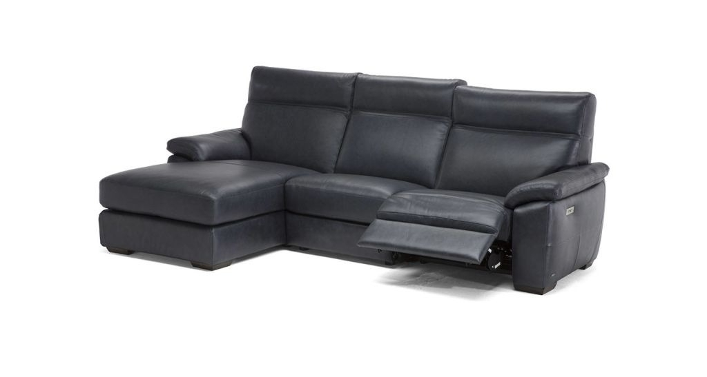 Travis Dk Grey Leather 6 Piece Power Reclining Sectionals With Power Headrest & Usb For Favorite Natuzzi Editions C007 Empatia Sectional (Gallery 10 of 15)