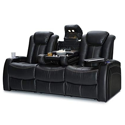 Travis Dk Grey Leather 6 Piece Power Reclining Sectionals With Power Headrest & Usb In Fashionable Amazon: Seatcraft Republic Leather Home Theater Seating Power (View 3 of 15)