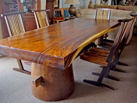 Tree Dining Tables Pertaining To Widely Used This Is The Closest I Could Find To My Dream Tree Trunk Table (View 12 of 20)