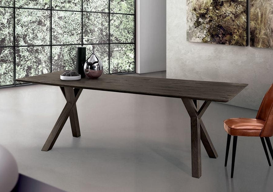Tree Dining Tables Throughout Most Up To Date Contemporary Dining Table / Oak / Solid Wood / Rectangular – Tree (View 14 of 20)