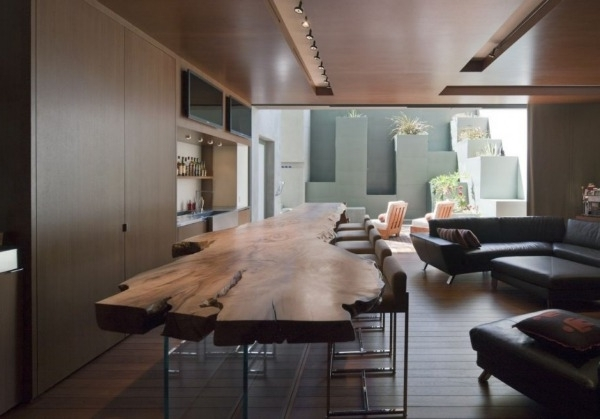 Tree Dining Tables Within Latest Furnitures : Dining Room Design With Live Edge Slab Dining Table And (View 16 of 20)