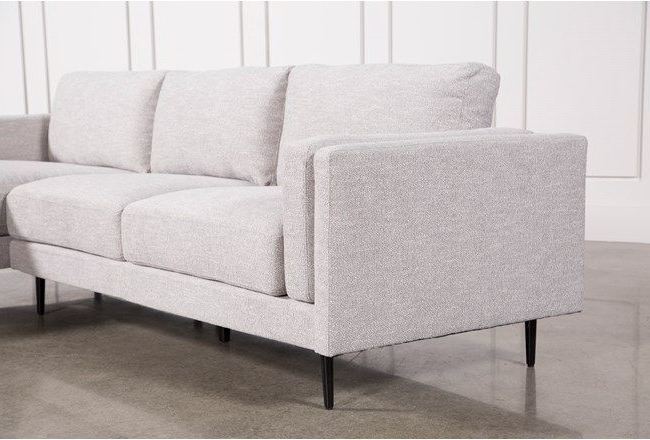 Trendy Aquarius Light Grey 2 Piece Sectionals With Laf Chaise For Aquarius Light Grey 2 Piece Sectional W/raf Chaise (View 8 of 15)
