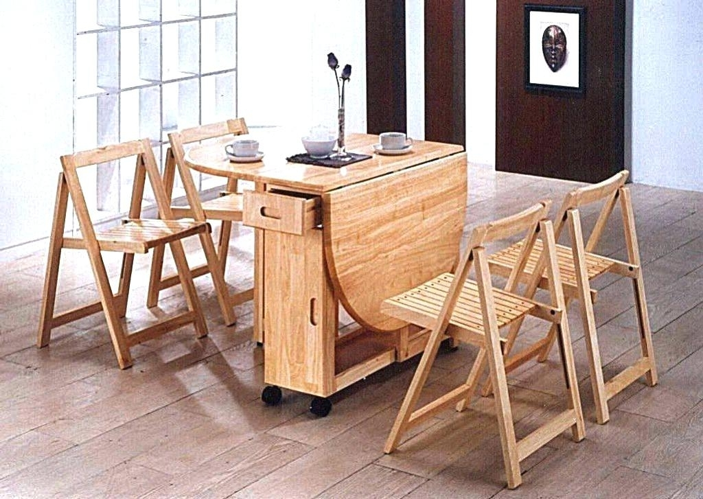 Trendy Architectures Wall Folding Dining Table Mounted Attached To Online Within Dining Tables With Fold Away Chairs (View 17 of 20)