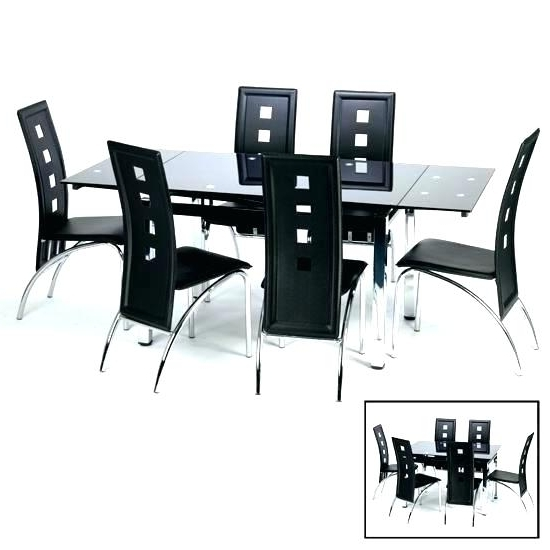 Trendy Black Extending Dining Tables Throughout Black Extendable Dining Table – Pizzaitaliana (View 16 of 20)