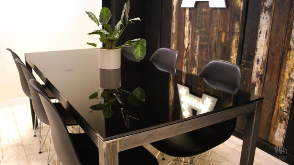 Trendy Black Glass Dining Tables Intended For Coloured Glass Top Dining Table (View 14 of 20)