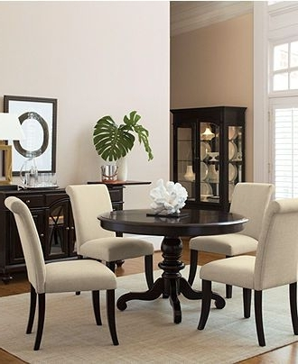 Trendy Bradford Dining Room Furniture, 7 Piece Dining Set (Round Table And Inside Macie 5 Piece Round Dining Sets (View 17 of 20)