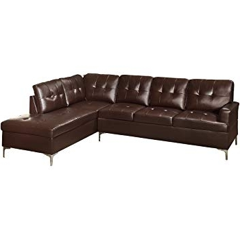 Trendy Burton Leather 3 Piece Sectionals With Ottoman Throughout Amazon: Winpex 3 Piece Faux Leather Sectional Sofa Set With Free (View 12 of 15)
