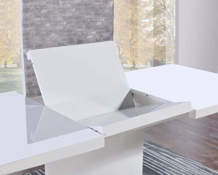 Trendy Buy Mark Harris Hayden White High Gloss Dining Table – 160cm Inside Large White Gloss Dining Tables (View 9 of 20)