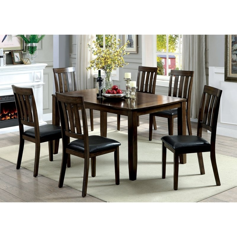 Trendy Candice Ii 7 Piece Extension Rectangular Dining Sets With Slat Back Side Chairs Inside Millwood Pines Devon Wooden 7 Piece Counter Height Dining Table Set (View 17 of 20)