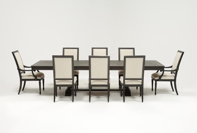 Trendy Chapleau Ii Extension Dining Tables Inside Chapleau 9 Piece Extension Dining Set (View 20 of 20)