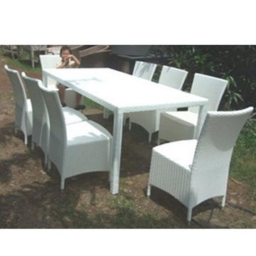 Trendy China Wicker Dining Table And Chair, Pe Rattan And Coated Iron Tube With Rattan Dining Tables And Chairs (View 14 of 20)