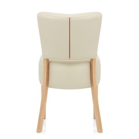 Trendy Cream Leather Dining Chairs Intended For Ramsay Oak Dining Chair Cream Leather – Atlantic Shopping (View 17 of 20)