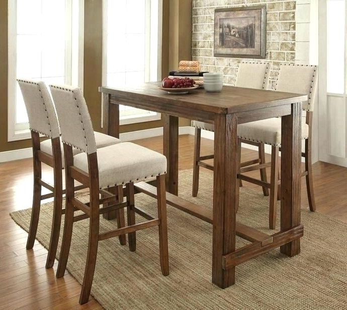 Trendy Dining Table Stools Dining Table Dining Bar Table Set – Savagisms Regarding Dining Tables With Attached Stools (View 17 of 20)