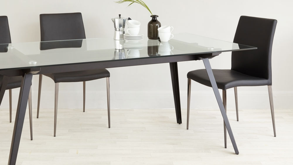 Trendy Dining Tables Black Glass With 6 – 8 Seater Glass Dining Table (View 18 of 20)