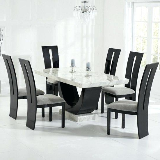 Trendy Dining Tables For Six Pertaining To 6 Chair Dining Tables High Top Kitchen Table 6 Chairs Brilliant (View 20 of 20)