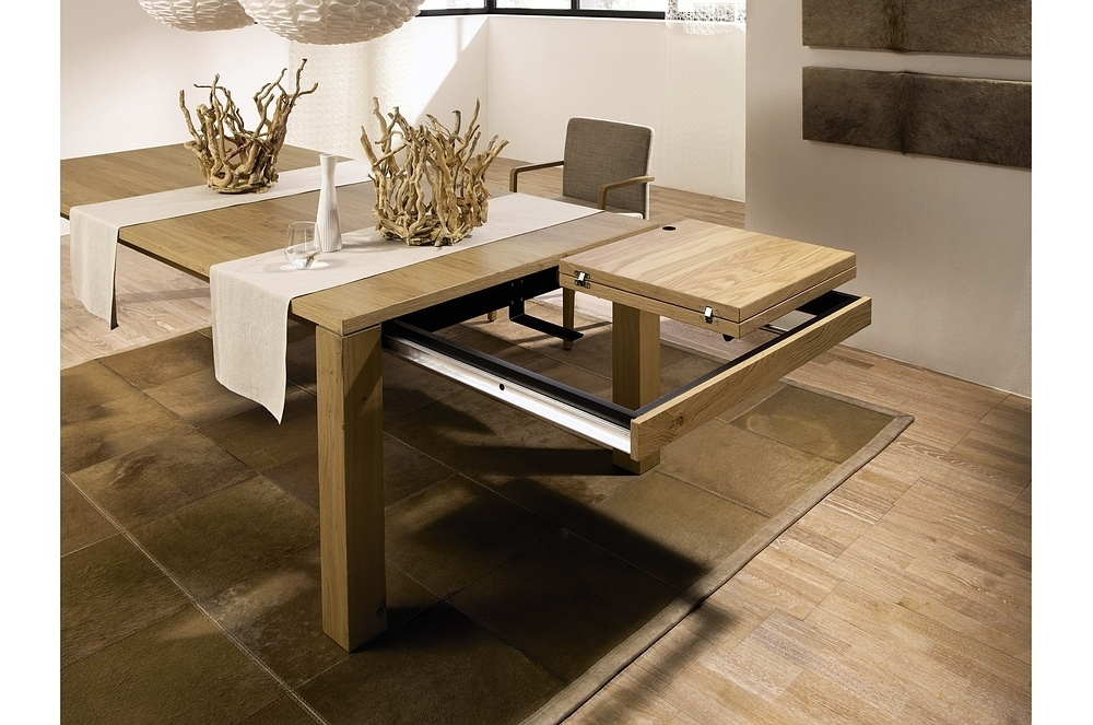 Trendy Extendable Dining Sets Pertaining To Modern Expandable Dining Table — Home Design Ideas : Make An (View 13 of 20)