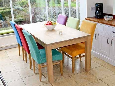 Trendy Extending Dining Tables In Solid Oak / Walnut, Contemporary Tables Intended For Extending Oak Dining Tables (View 19 of 20)
