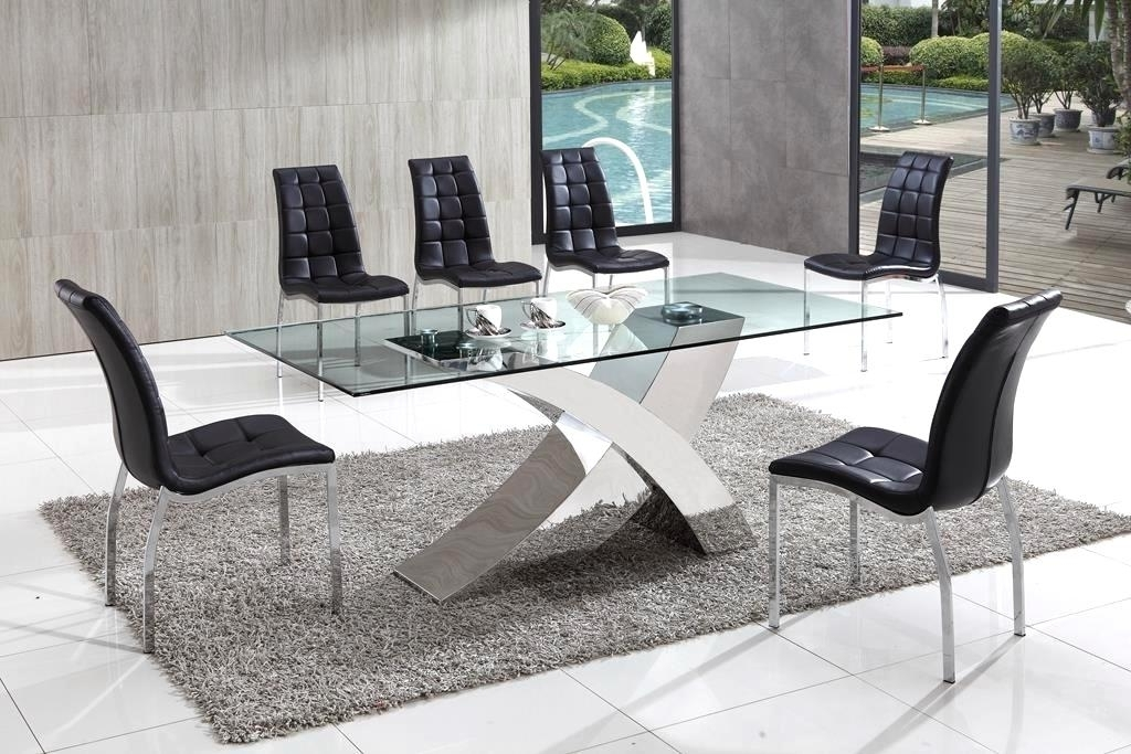 Trendy Fabulous Chrome Glass Dining Table Advantages Of Buying Glass Top Regarding Chrome Glass Dining Tables (View 17 of 20)