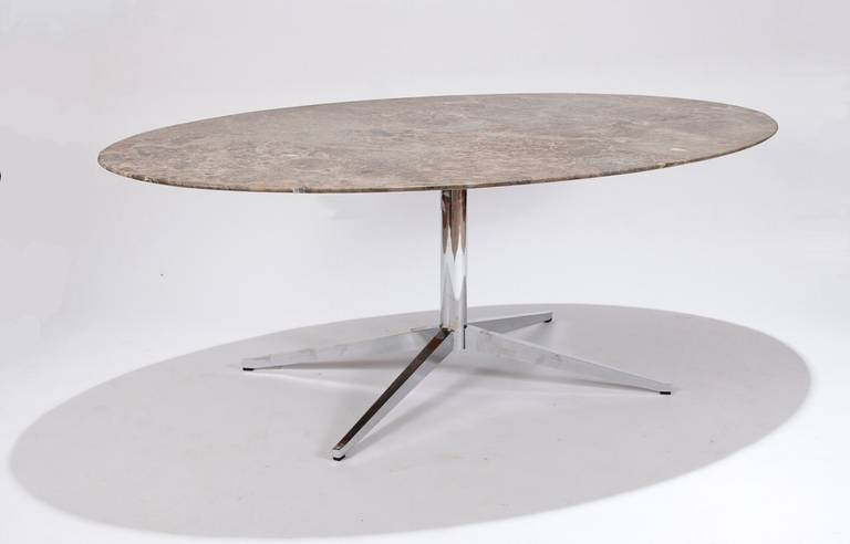 Trendy Florence Knoll Marble Top Oval Dining Table At 1Stdibs Intended For Florence Dining Tables (View 20 of 20)