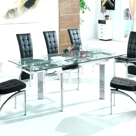 Trendy Glass Folding Dining Tables Inside Extendable Glass Dining Table Extendable Glass Dining Table Sets (View 18 of 20)