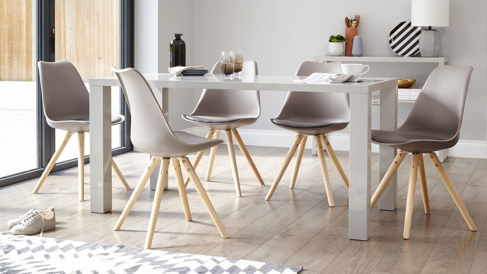 Trendy Gloss Dining Tables Inside Modern Grey Gloss Dining Table (View 19 of 20)