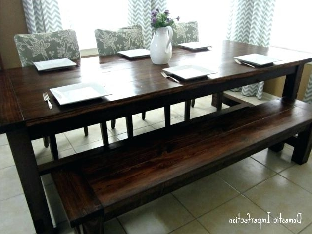 Trendy Indoor Picnic Style Dining Tables Throughout Picnic Dining Table Bench Style G Table Picnic Style G Table Bench (View 18 of 20)