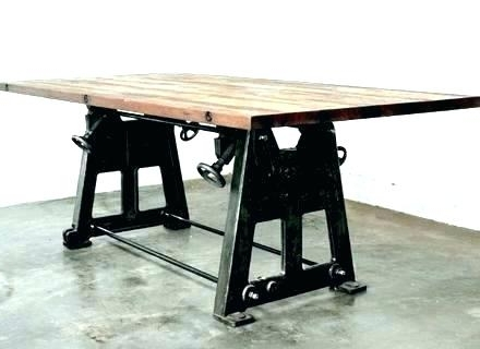 Trendy Industrial Style Dining Tables With Regard To Industrial Dining Room Table Industrial Style Dining Table (View 20 of 20)