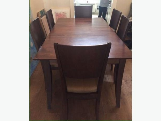 Trendy Java Dining Tables With Mint Condition Baronet Java Dining Table And Two Chairs Central (View 17 of 20)