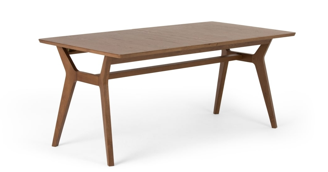 Trendy Jenson Extending Dining Table, Dark Stain Oak (View 20 of 20)