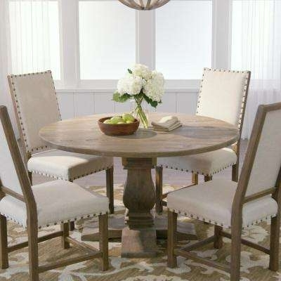 Trendy Kitchen & Dining Room Furniture – Furniture – The Home Depot Pertaining To Parquet 7 Piece Dining Sets (View 19 of 20)
